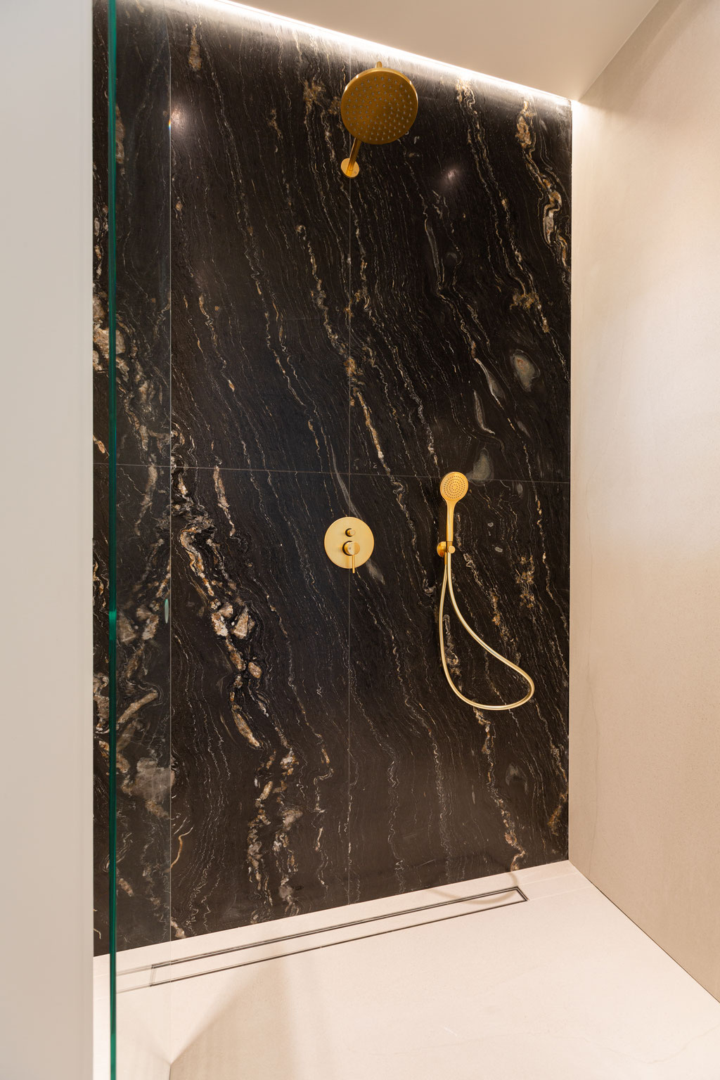Tropical Storm granite shower wall