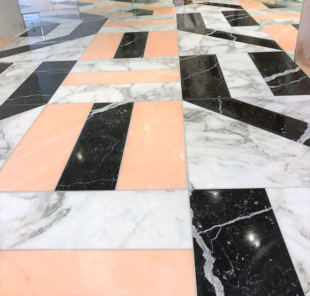 Marble mosaic floor Love Stories London