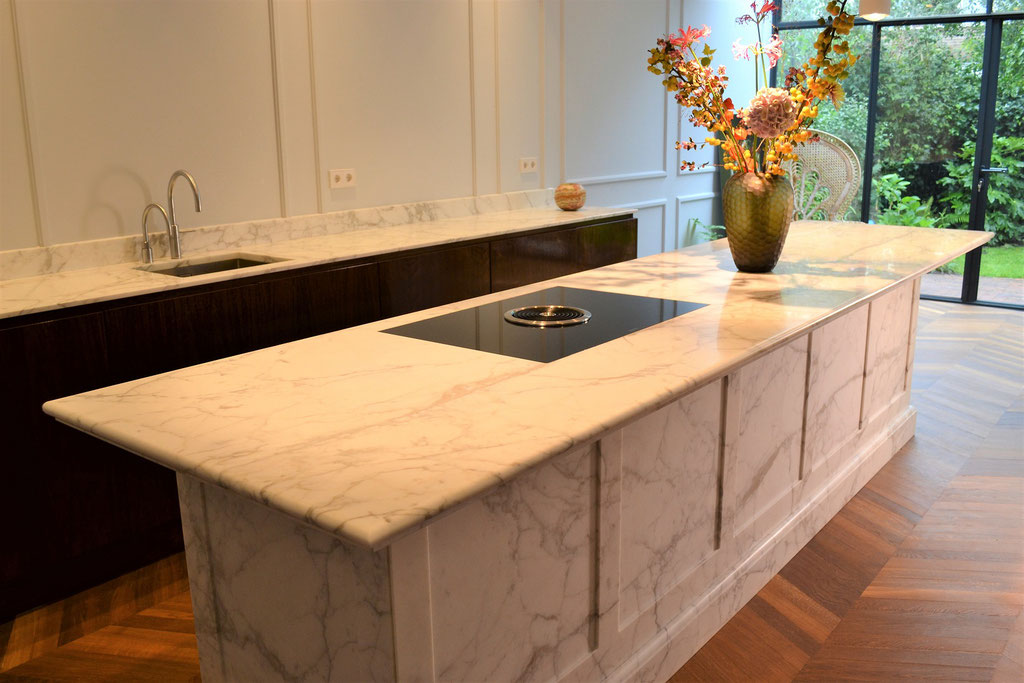 Classic marble luxury kitchen