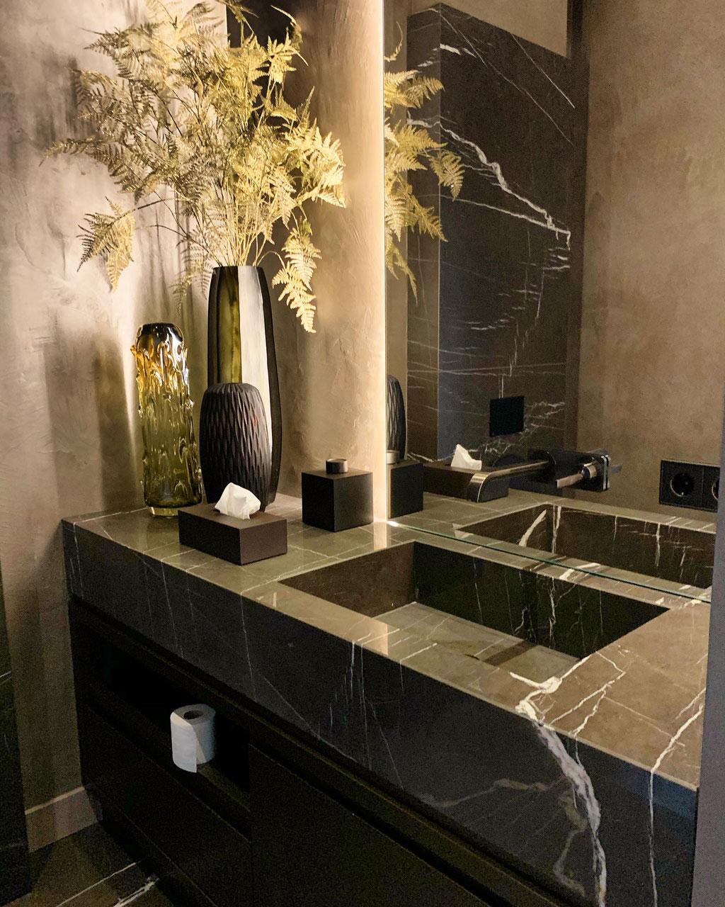 Pietra Grey marble luxury bathroom
