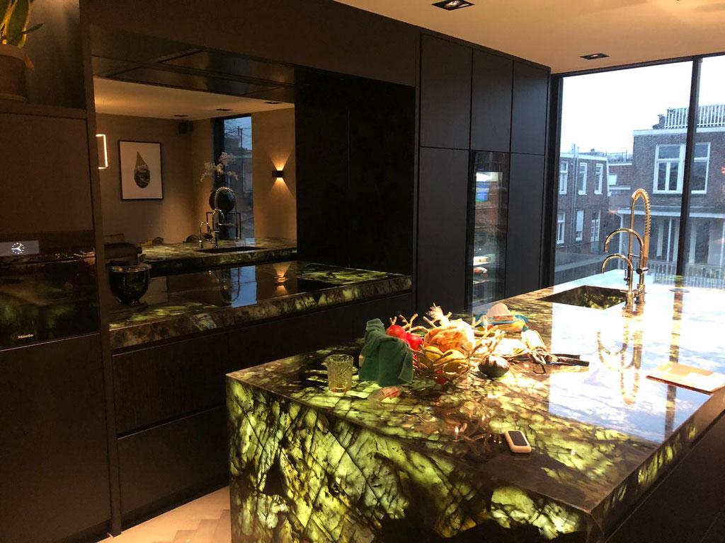 Labradorite Blue kitchen