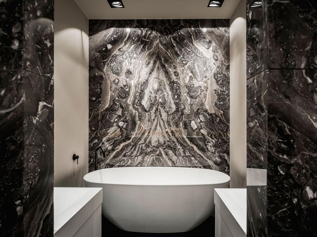 Grigio Orobico marble bathroom