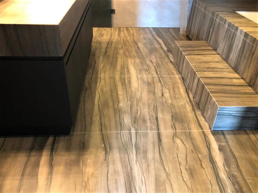 Het eindresultaat: Sequoia Brown graniet op zijn best