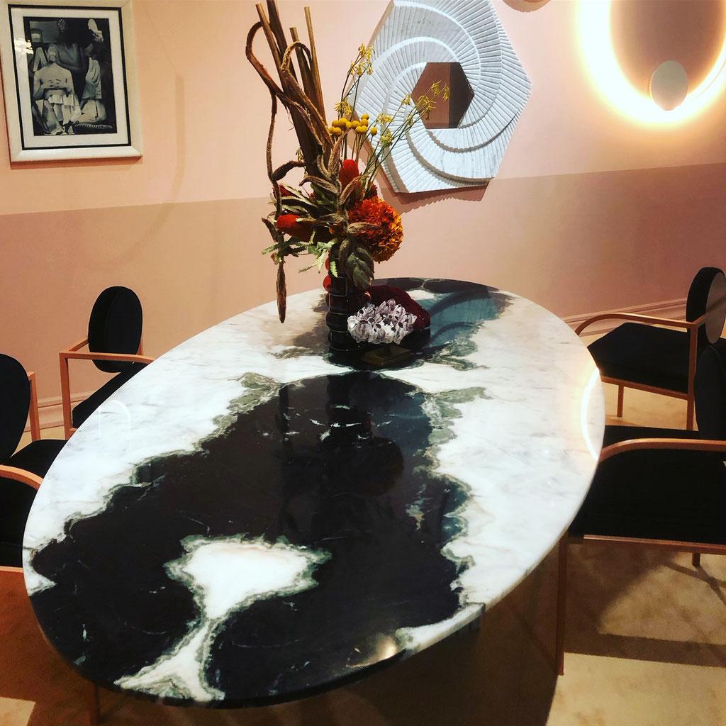 Panda White marble table