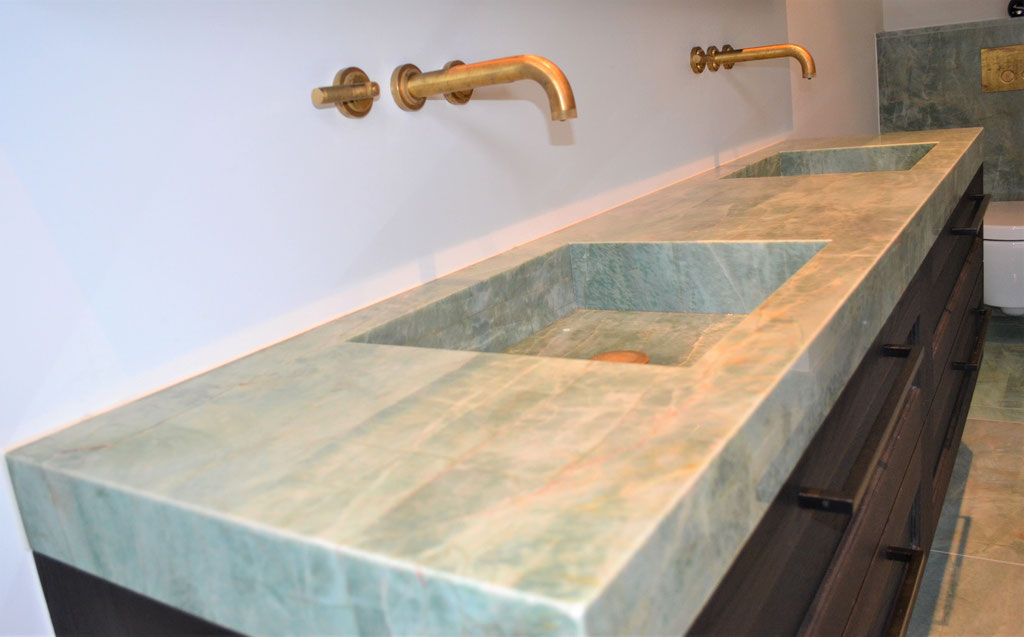 A beautiful marble basin