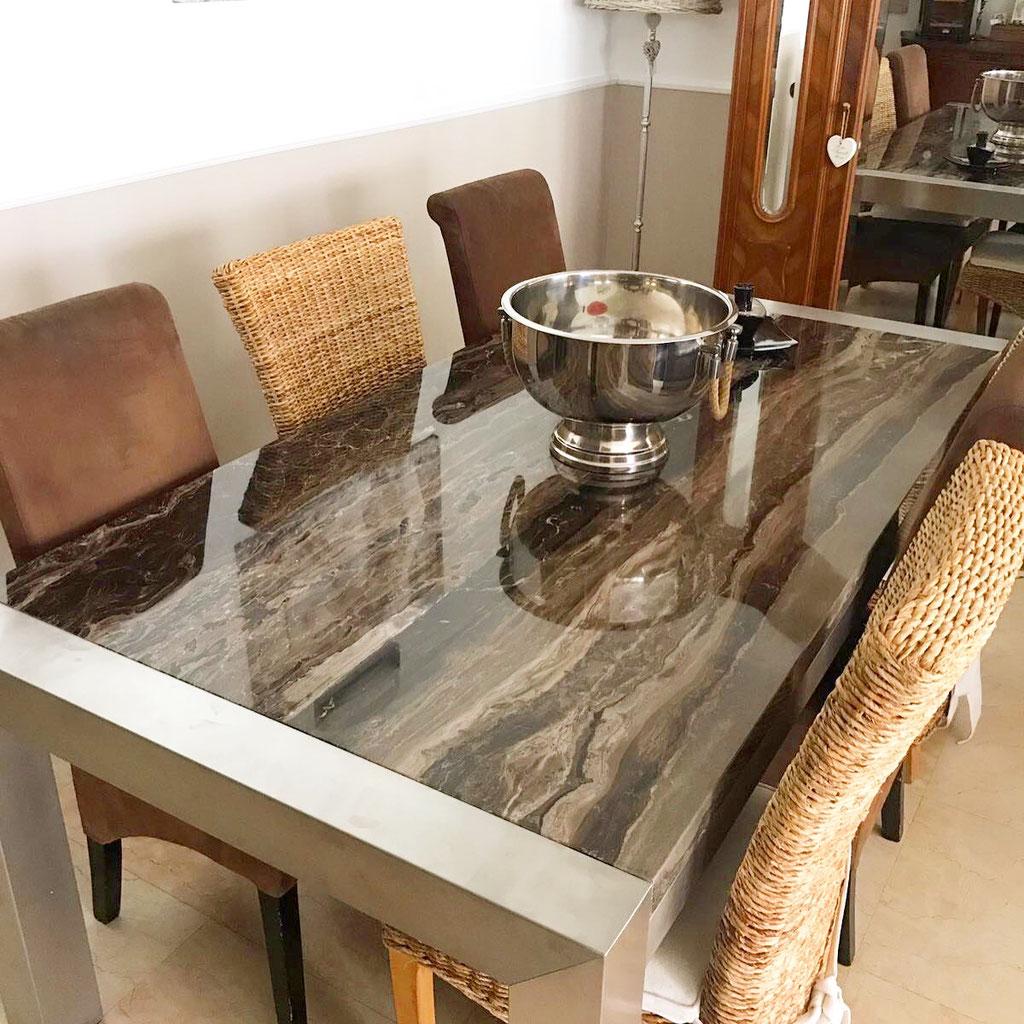 Frappuccino marmer tafel