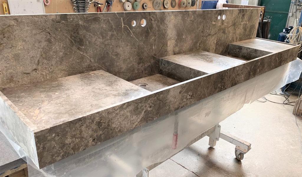 Marmer wastafel voor DBD Interiors