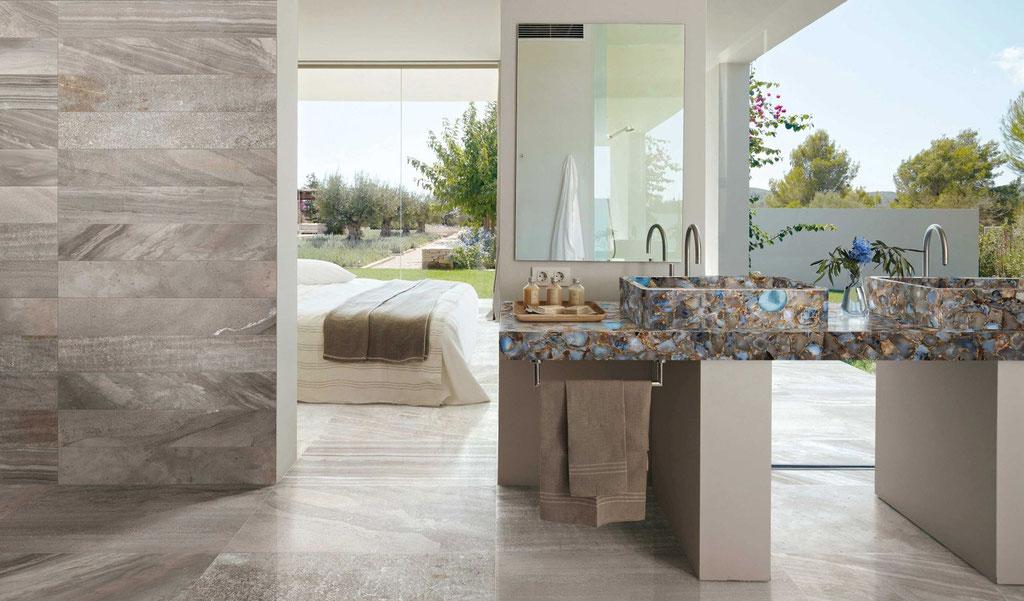Greystone with Agate Rubane vanity