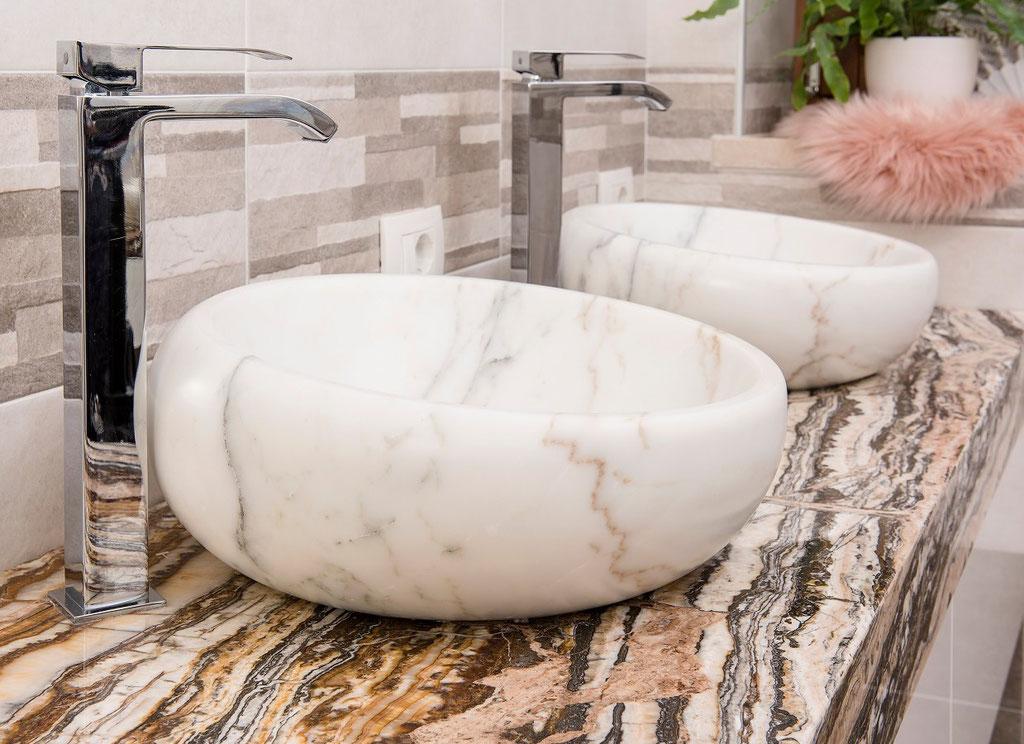 Calacatta wash bowls