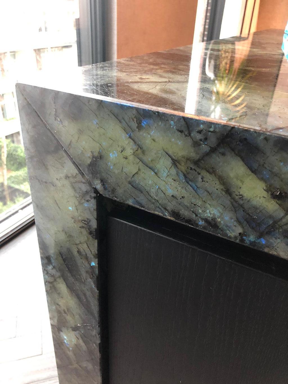 Graniet zonder de led-verlichting