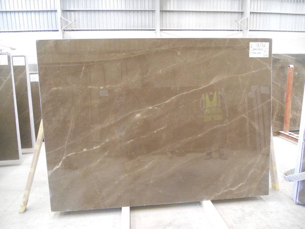 A beautiful slab of Bronze Armani marble