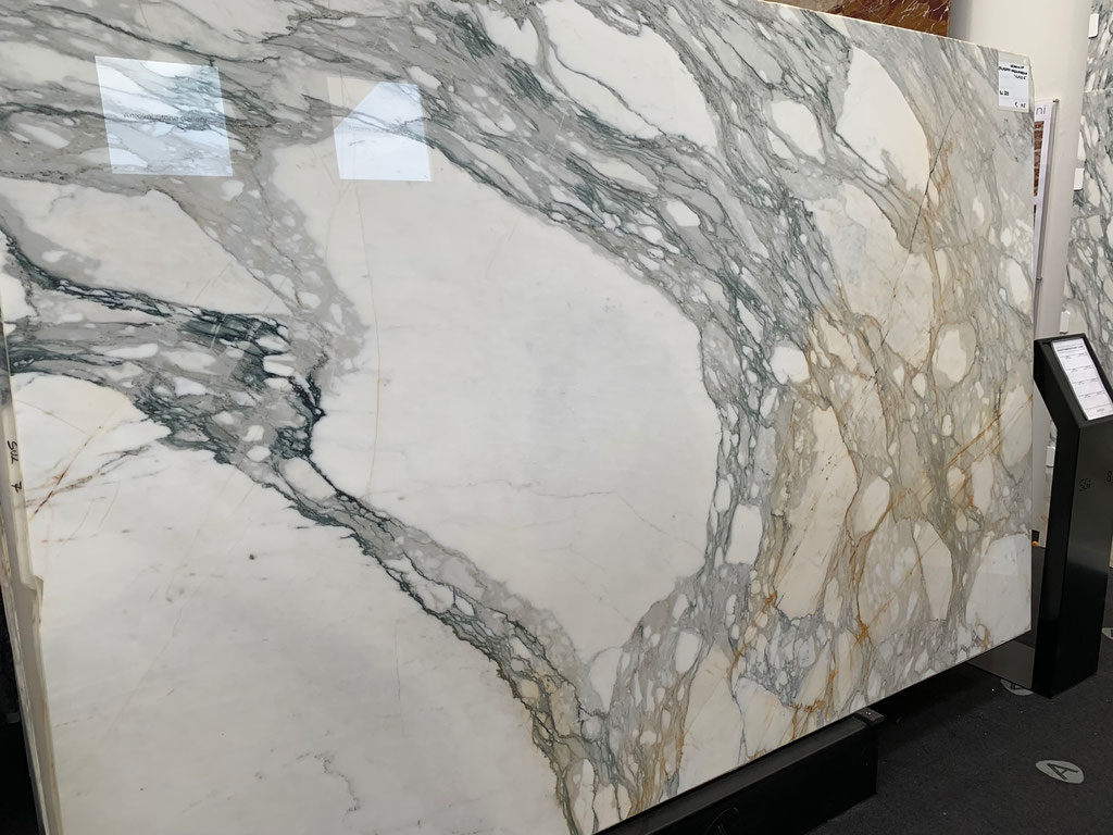 A beautiful slab of Calacatta marble