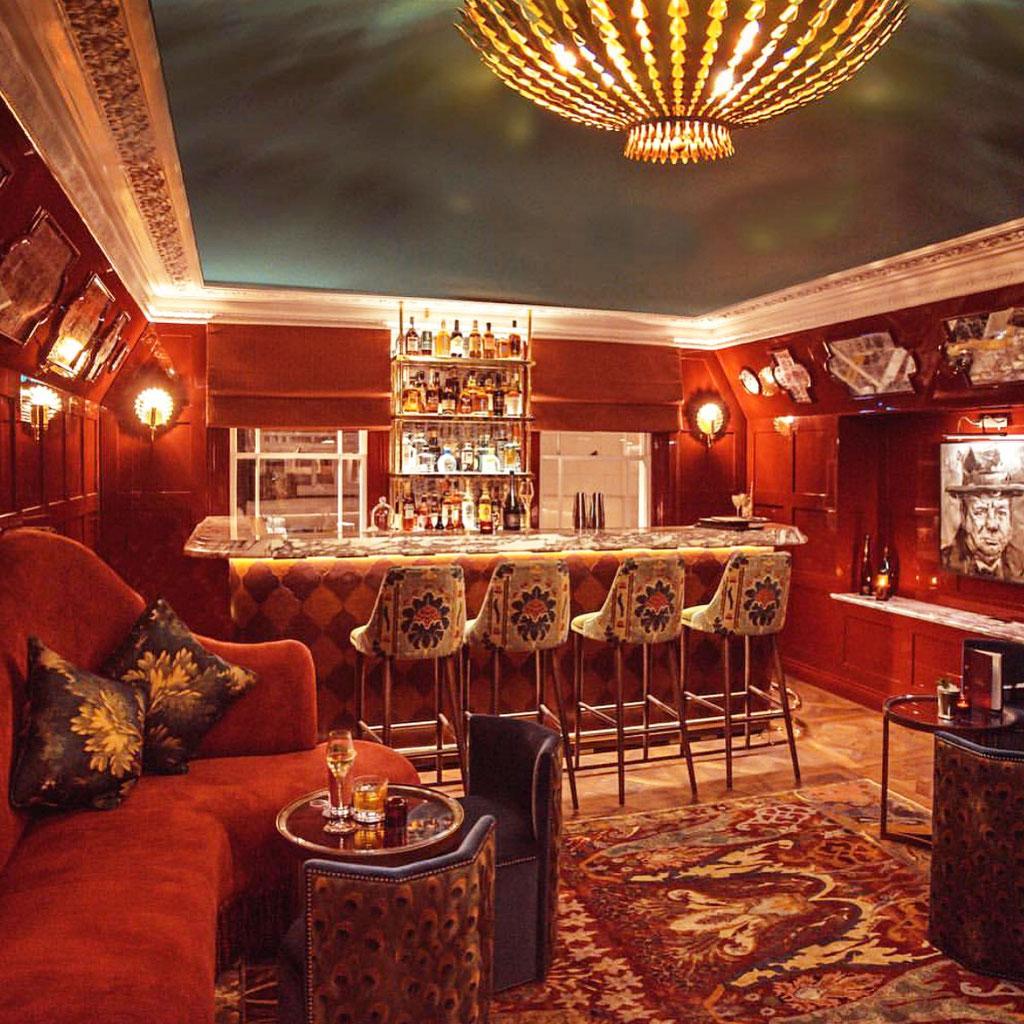 Calacatta Viola bar in London UK