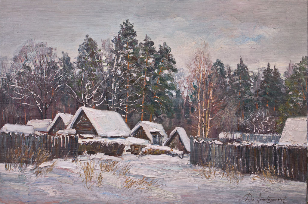 """Зимовье"" Х.,м. 60х90  2017 г."