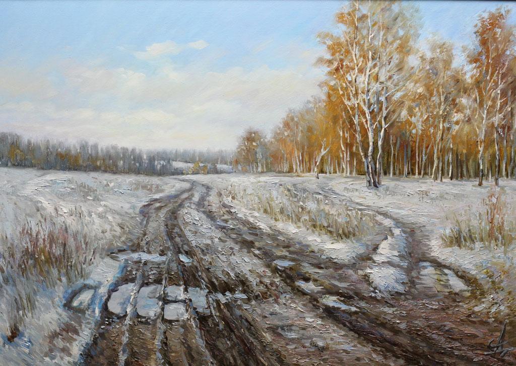 """""""Первый снег. Лысые горы"""" Х.,м. 50х70 2012 г."""