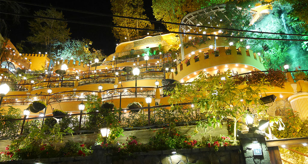Restaurant in Darband.