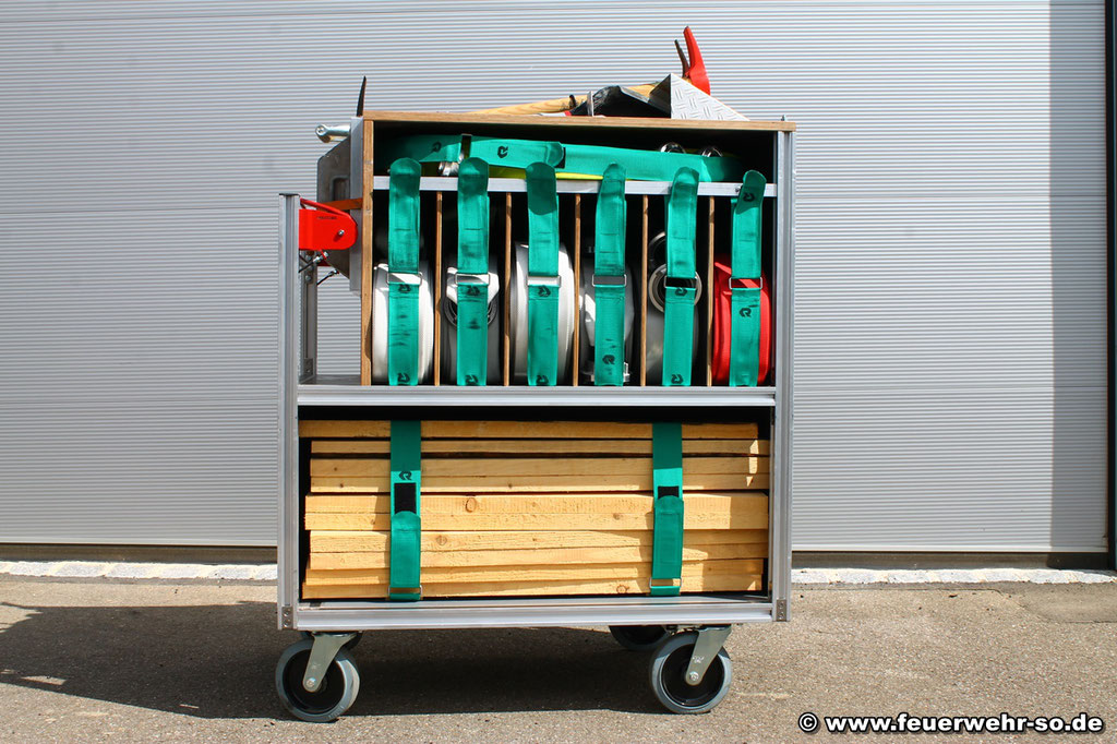 Rollcontainer Feuerwehrtechnische Beladung Hinten