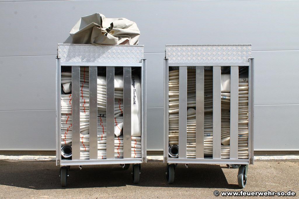 2x Rollcontainer Schlauch