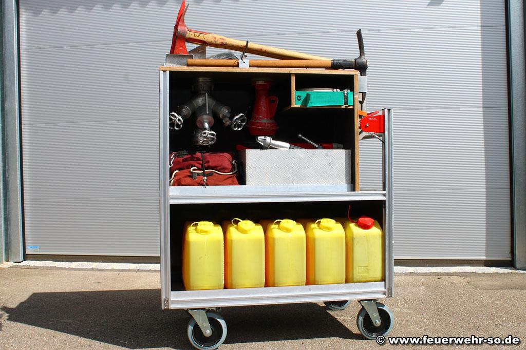 Rollcontainer Feuerwehrtechnische Beladung Vorne
