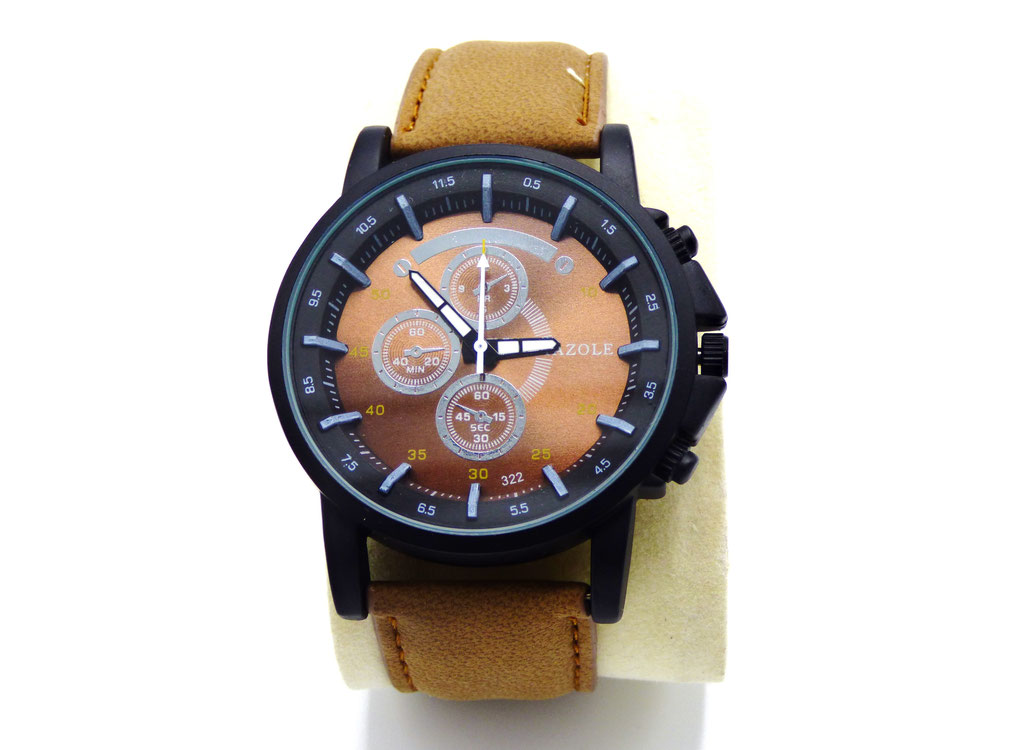 montre fashion brune clic tendance