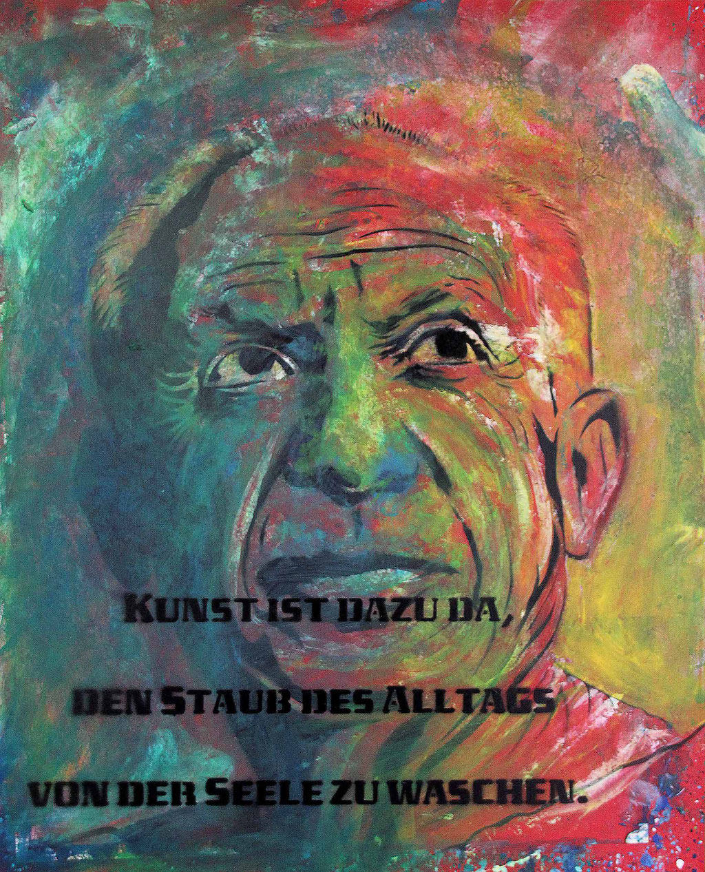 Urban Art, Picasso Portrait Gemälde