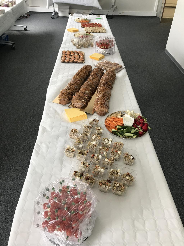 Un buffet en cohérence avec le discours :-)