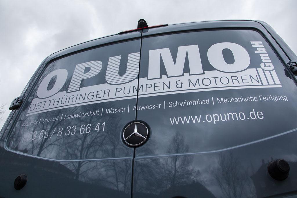 folien-fabrik / Ostthüringer Pumpen & Motoren GmbH  / Servicefahrzeug