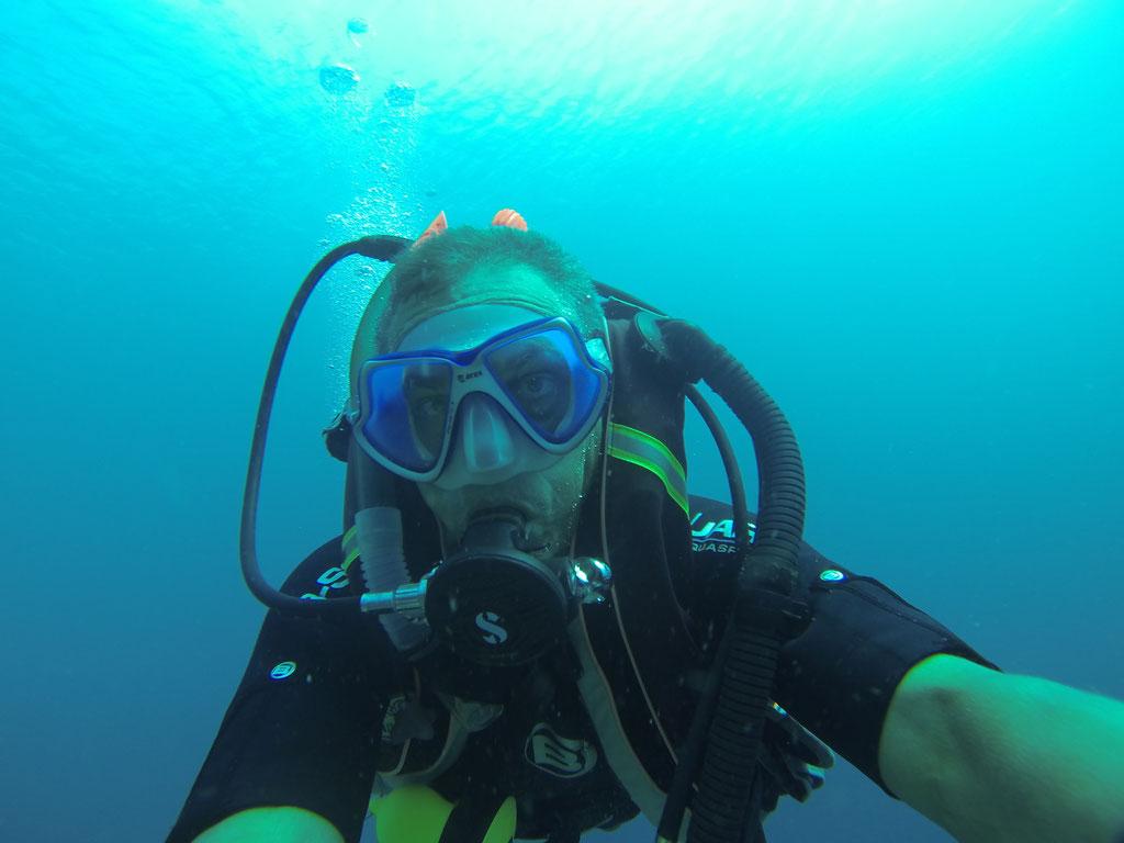 Selfie unter Wasser