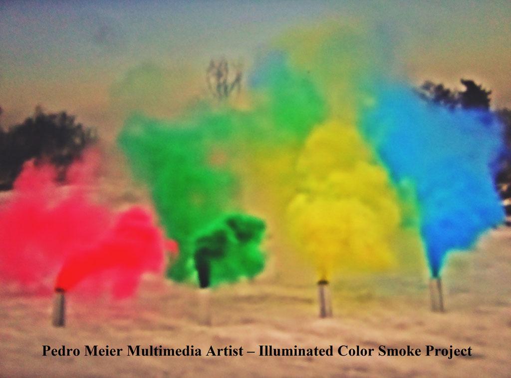 Illuminated Color Smoke Project Nr. 5 – by Pedro Meier Multimedia Artist 2017 – Niederbipp, Olten, Switzerland and Bangkok, Land art, minimal art, conceptual art, Earth art, spirituality – Member VISARTE, IAA AIAP UNESCO, Artforum, © P.Meier / ProLitteris
