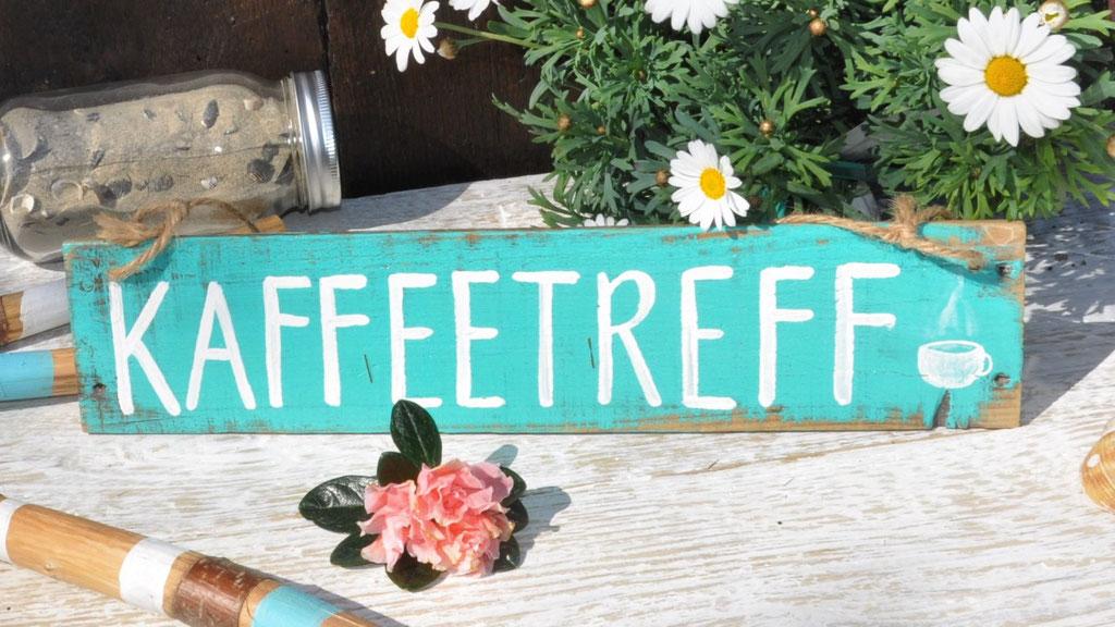 Kaffeetreff  türkis  Nr.1  ca. 36cm/8cm  Fr. 26.-
