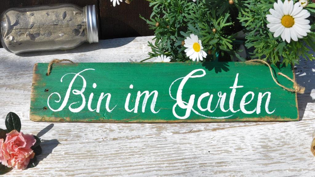 Bin im Garten grün Nr.1   ca. 36cm/8cm  Fr. 26.-
