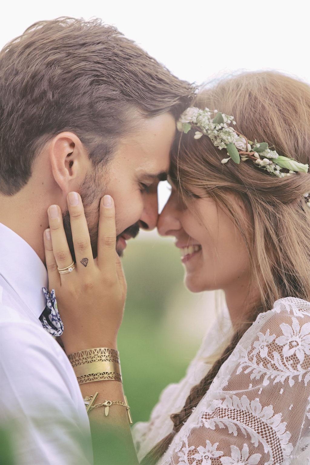 mariage bohème romantique champêtre