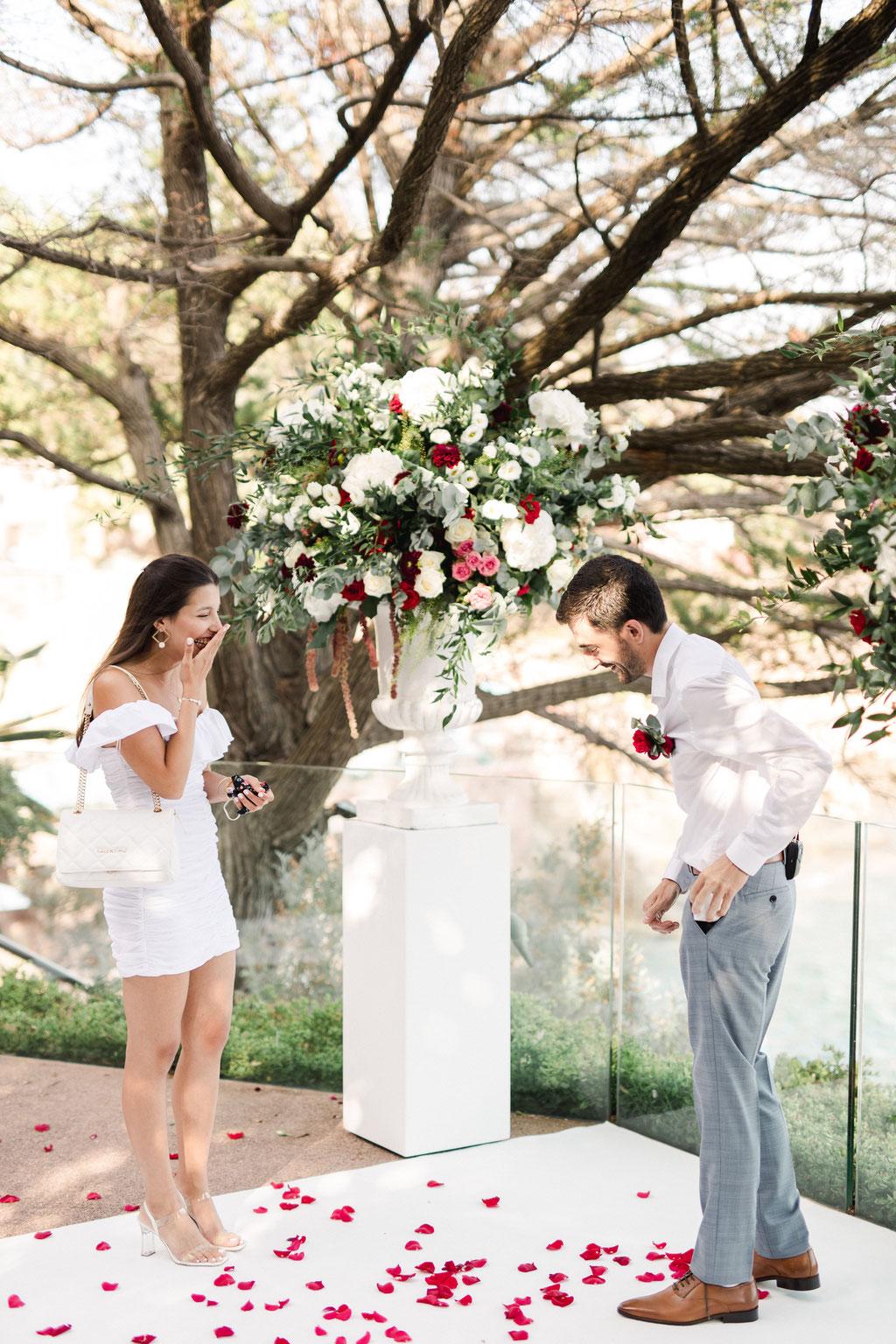 Demande en mariage Romantique Côte d'Azur