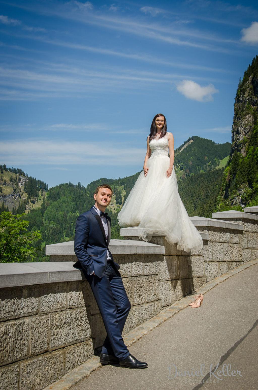 Brautpaar Schloss Neuschwanstein