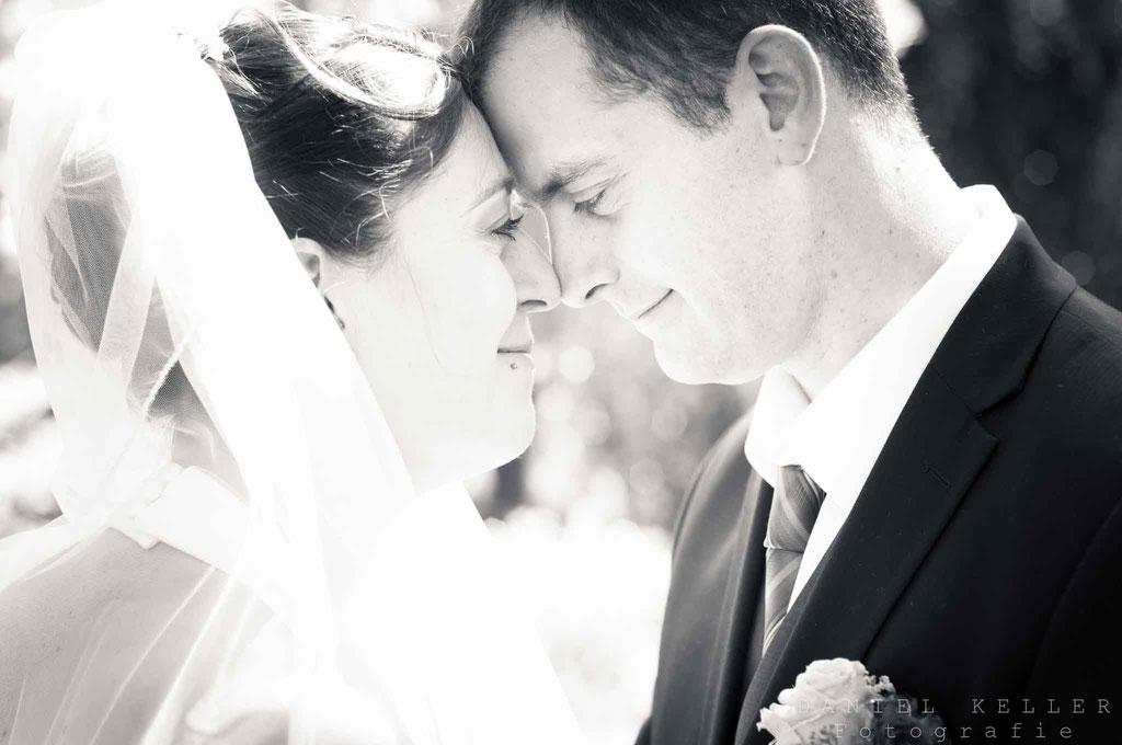 Brautpaar s/w  / Daniel Keller Fotografie