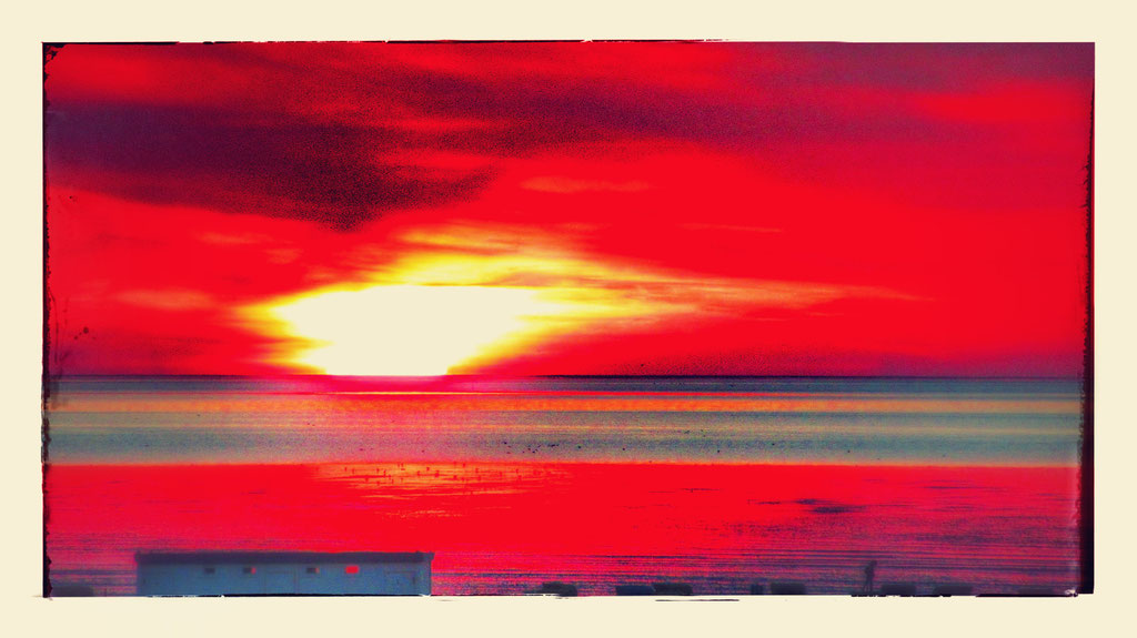 ~ Bild: Special Effects - 'Dorum Late August Sunset@North Sea' ~