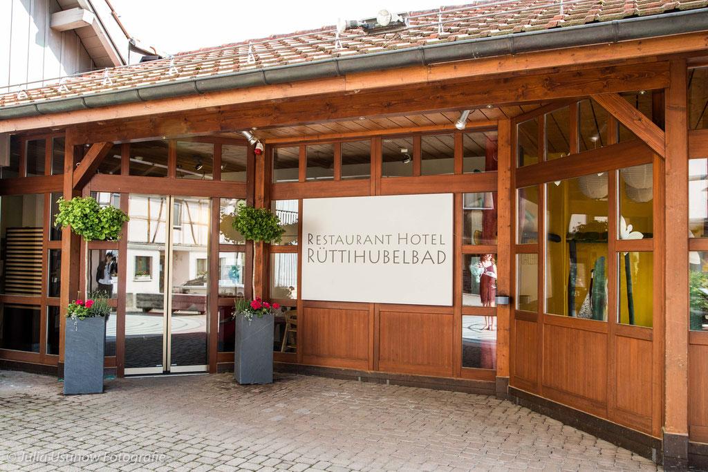 Restaurant Rüttihubelbad, Eingang