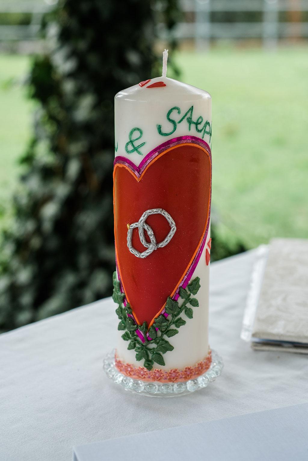 Hochzeit Inspiration, Hochzeitskerze, Hochzeitsfotograf Zwenkau