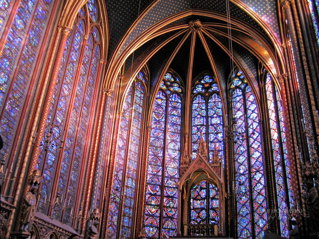 Bild: Chor in der Sainte-Chapelle in Paris