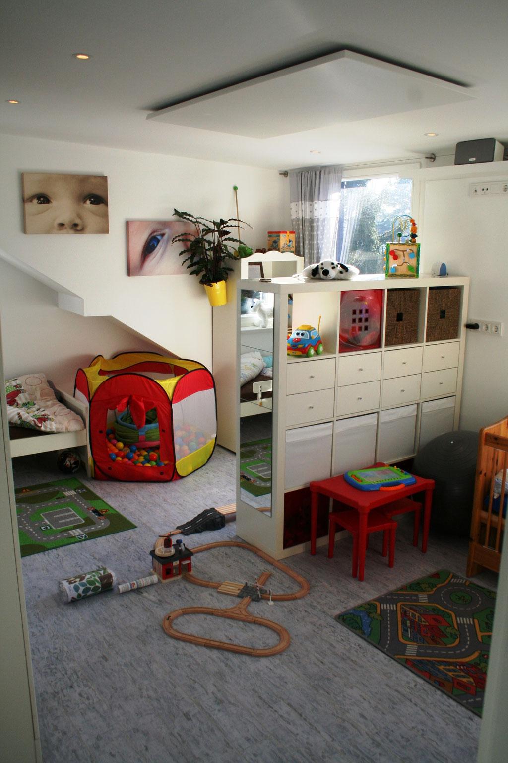 HALLER Infrarotheizung Deckenmontage im Kinderzimmer