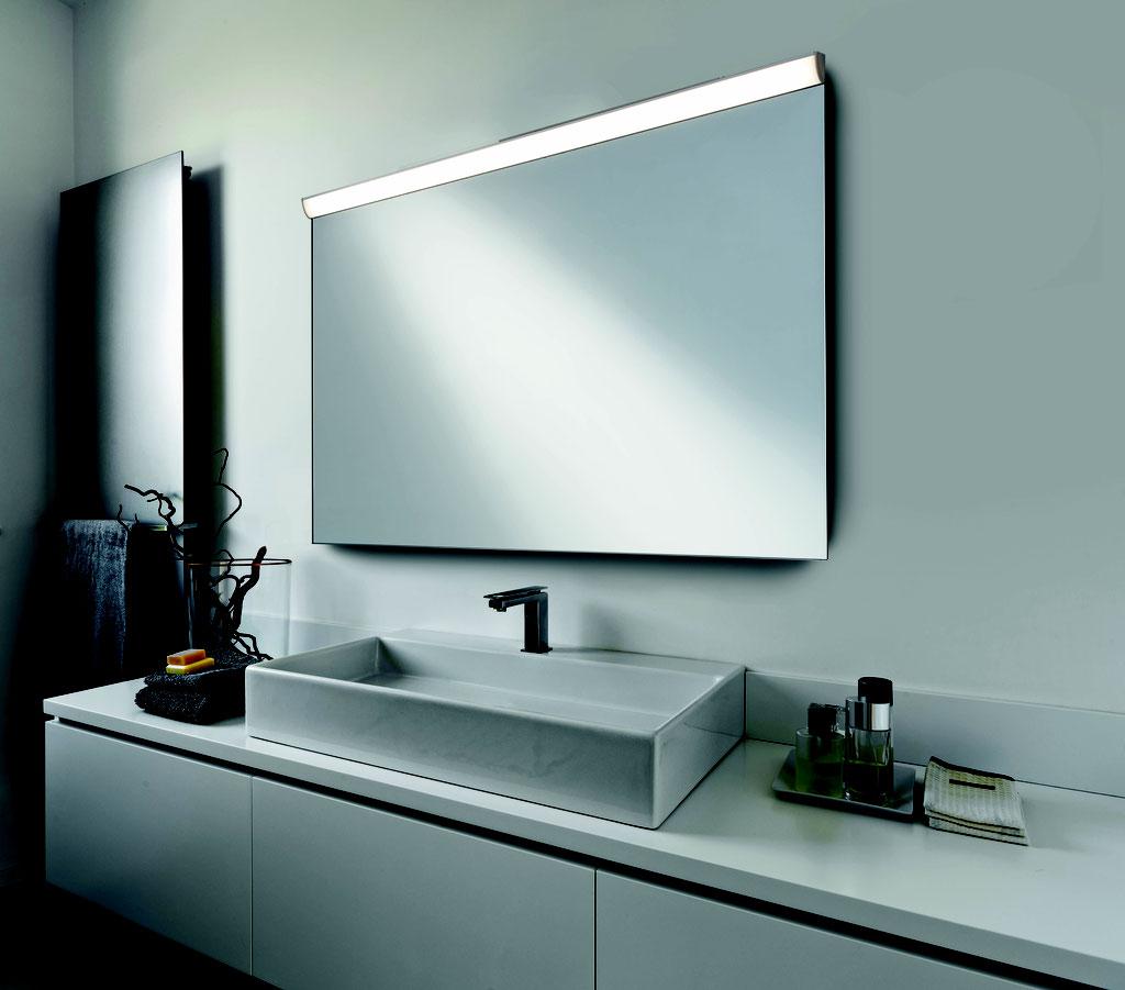 HALLER Spiegel Infrarotheizung mit LED Aufsatz