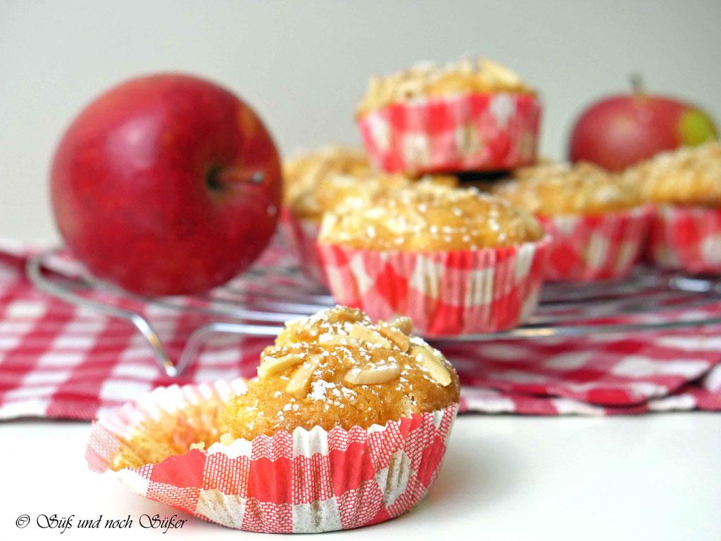 schnelle uns saftige Apfelmuffins