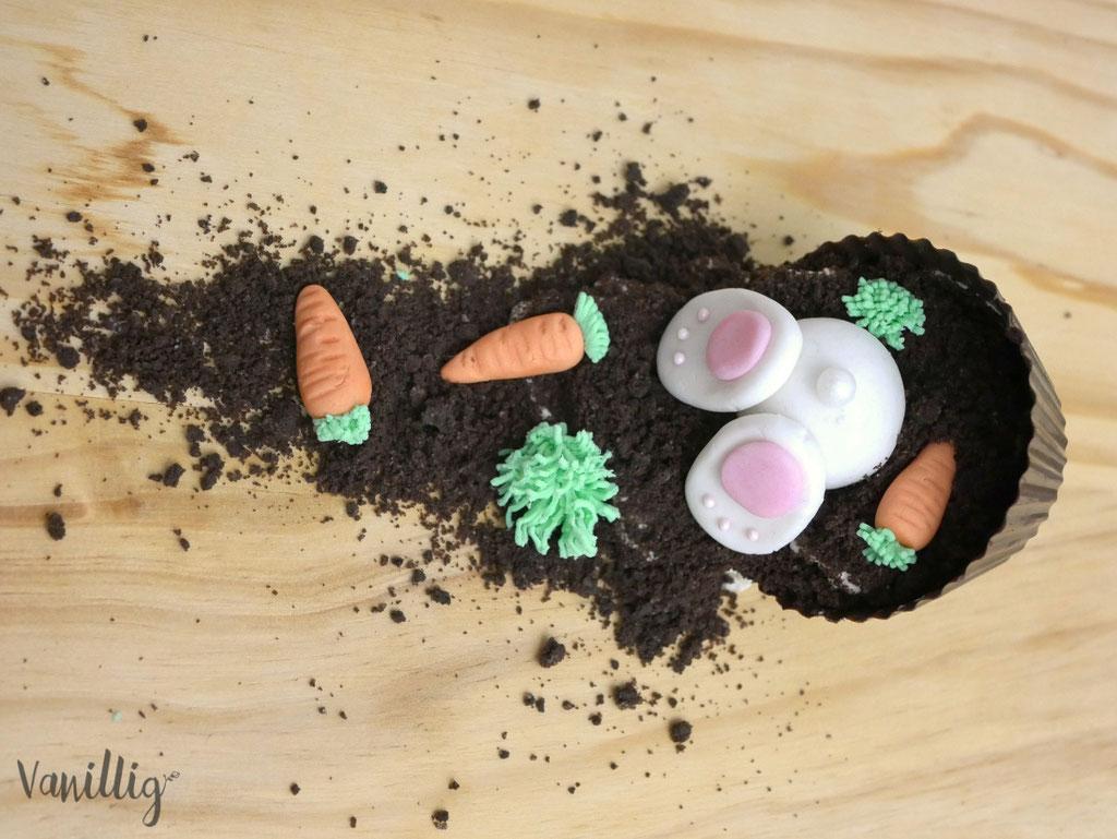 einfache Dessert Idee zu Ostern mit Osterhase