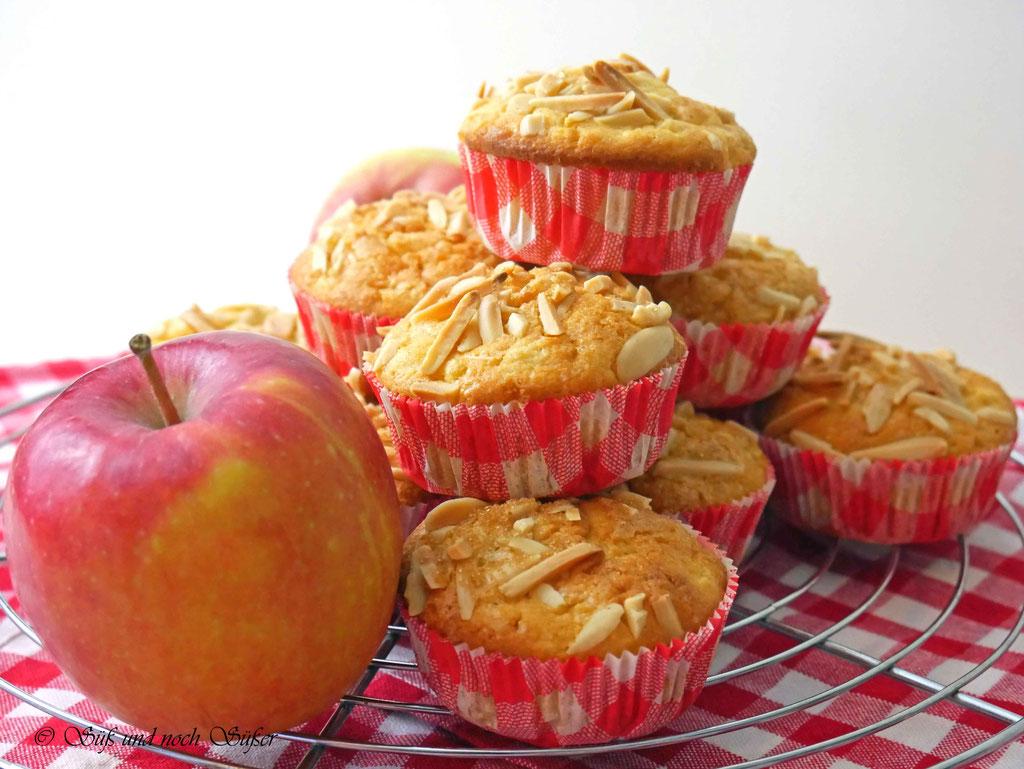 schnelle und saftige Apfelmuffins