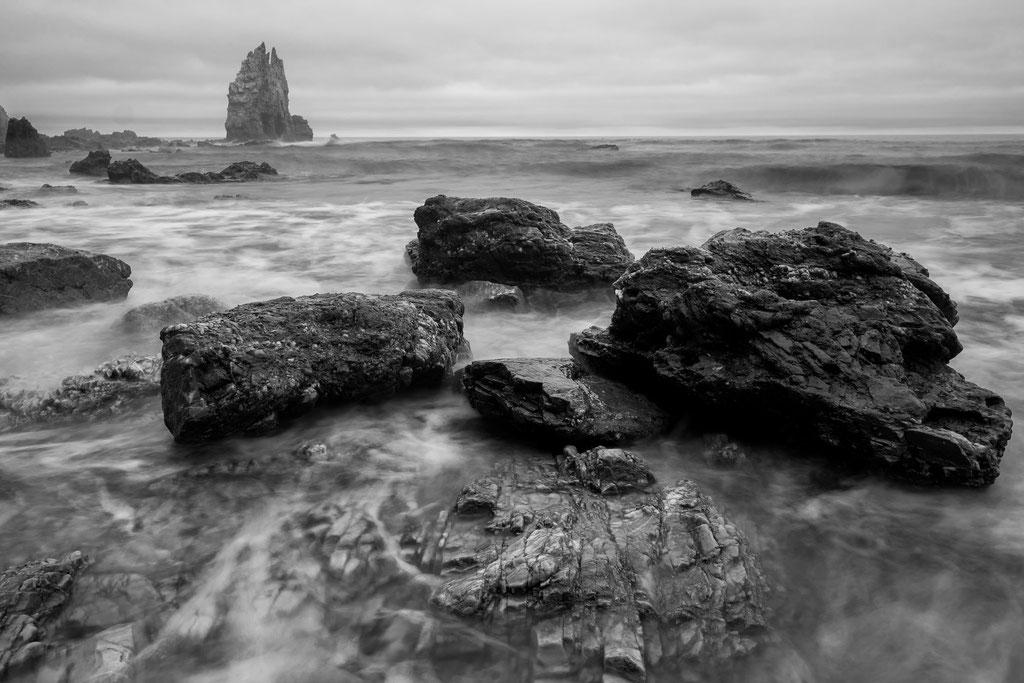 9 Playa de Portizuelo. Wieder mieses Wetter und mieses Licht... Könnte aber auch in Island sein!