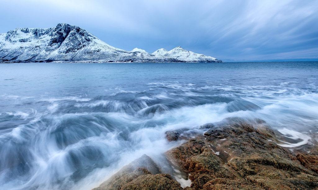 Grøtfjord, View to Tromtinden
