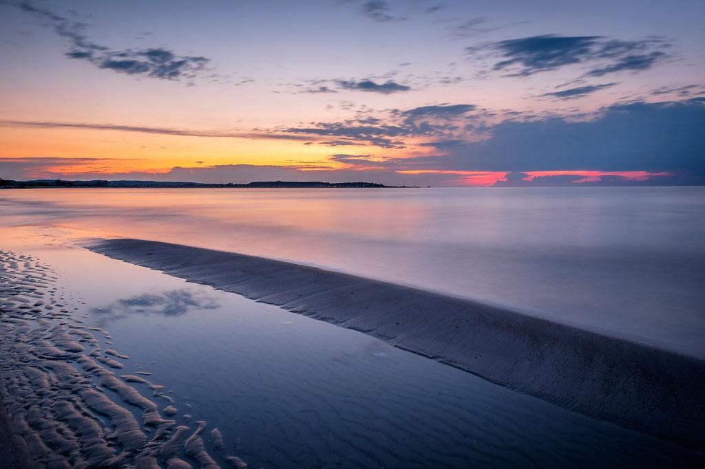 Sonnenuntergang am Strand von Sehlendorf
