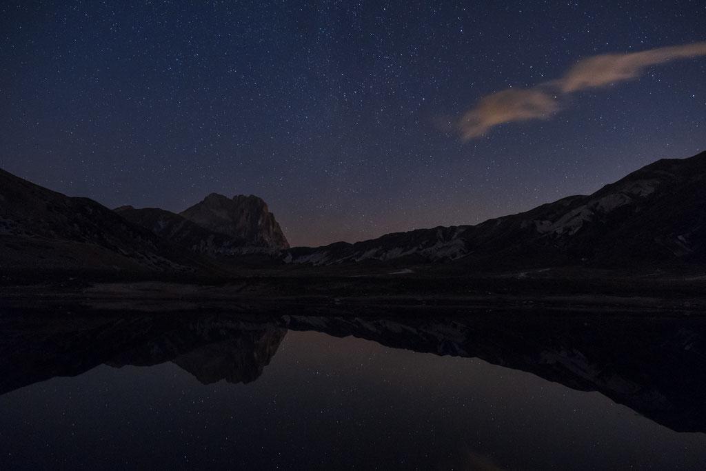 Laghetto Pietranzoni im Sternenlicht