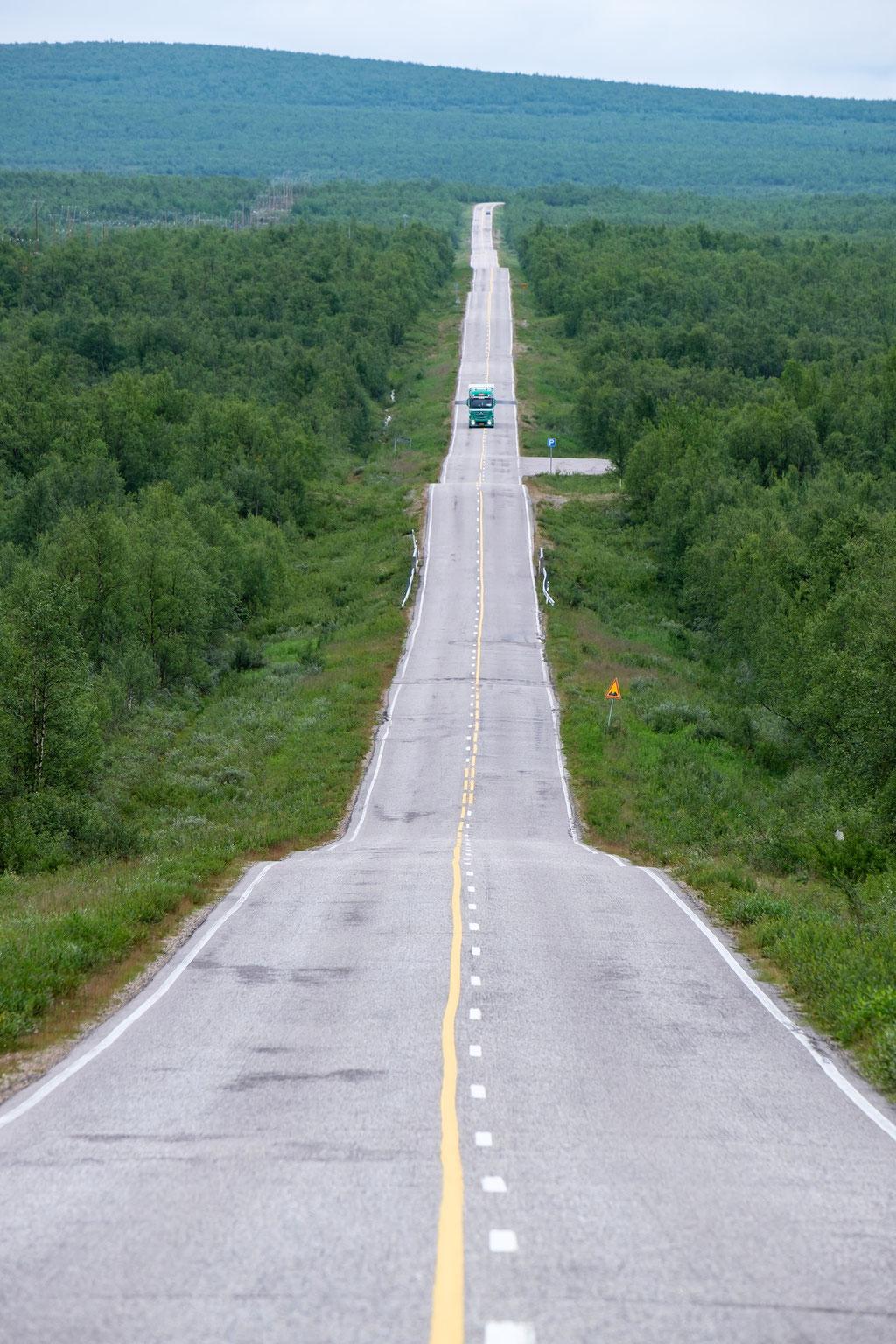 Straßen in Lappland
