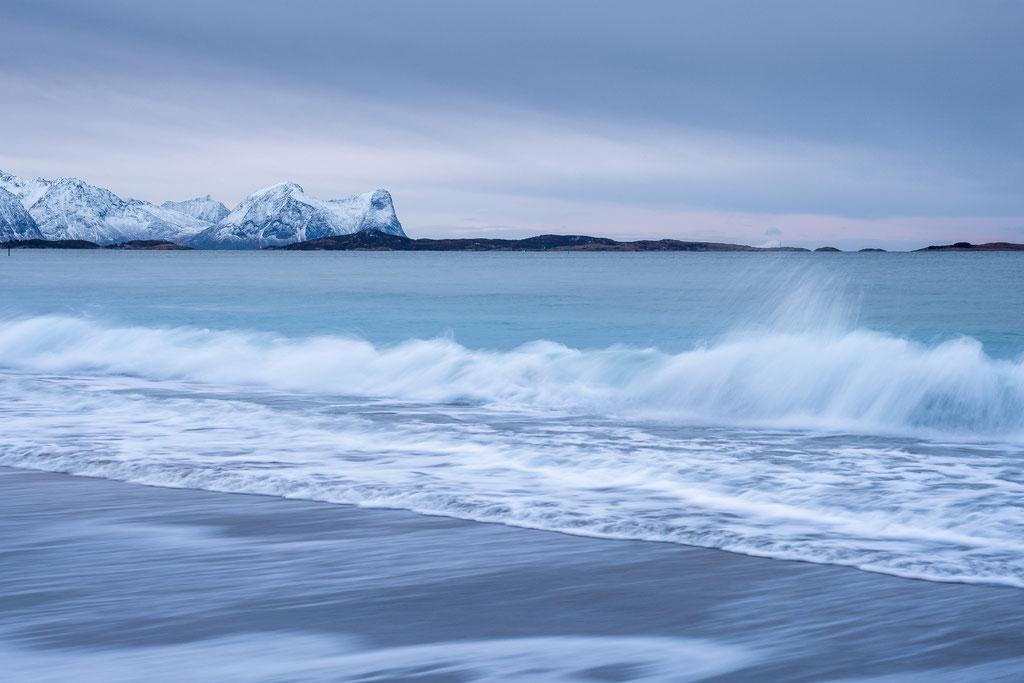 Eisige Küste bei Skaland, Senja
